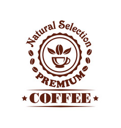 premium coffee shop or cafeteria icon vector image
