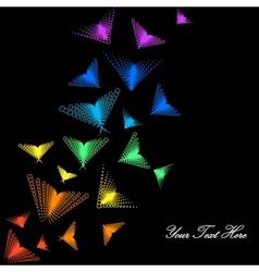 Rainbow butterflies vector image
