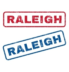 Raleigh rubber stamps vector