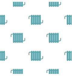 Retro iron central heating battery pattern vector