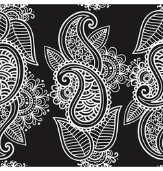 Seamless mehendi background vector