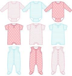 Set of child wear vector