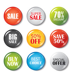 Set of sale buttons and badges product vector