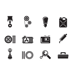 Silhouette Car Parts and services vector image vector image