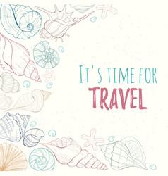 summer paradise holiday marine card vector image vector image