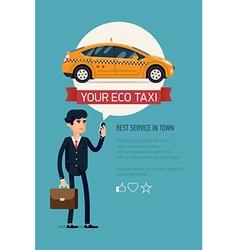 Taxi service app poster vector