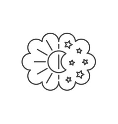 thin line sleep icon vector image