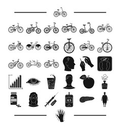 Trip rest sport and other web icon in black vector