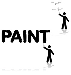 Wall painter vector