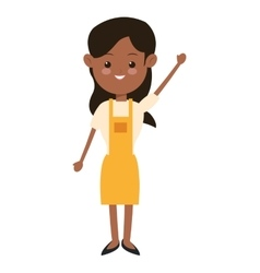 Single woman wearing apron icon vector