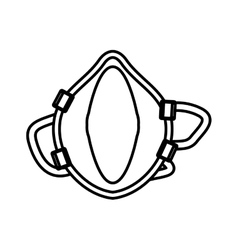 Outline breathing mask respiration protection vector