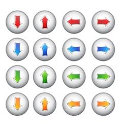 Set arrows buttons vector