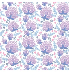 Soft purple flowers seamless pattern background vector