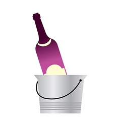 A wine in the bucket vector image