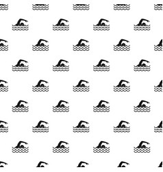 swimmer pattern vector image