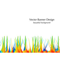 grass and sand vector image