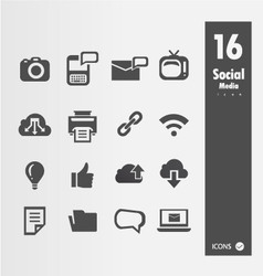 Minimal styled icons vector