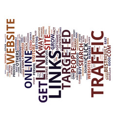 The best website traffic sources text background vector