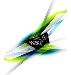 Hi-tech colorful futuristic lines vector