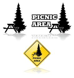 Picnic area vector