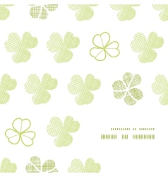 Clover geometric textile textured frame corner vector