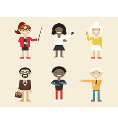 Business and office people flat design icons vector