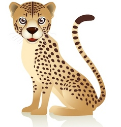smiling cheetah cartoon vector image