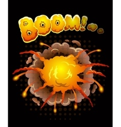 Big cool explosion background vector