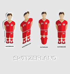 Switzerland soccer team sportswear template vector