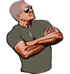 American sergeant posing vector image