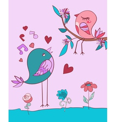 Love bird song vector