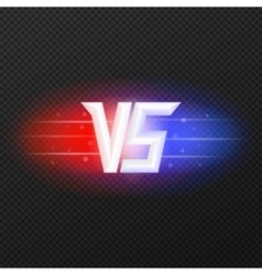 Versus icon with flares vector