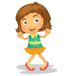 Dancing young girl vector