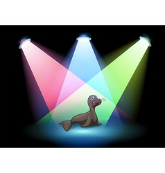 A seal in the middle of the stage vector image vector image