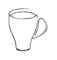 Blurred silhouette image cartoon porcelain modern vector