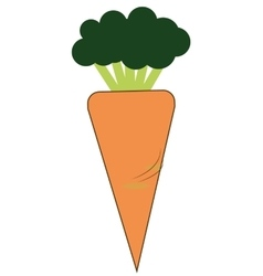Carrot cartoon icon vector
