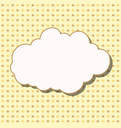 Cartoon white cloud with shadow on yellow vector