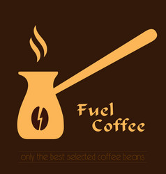 coffee logo cezve icon and label vector image