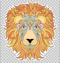 colorful head of lion vector image vector image