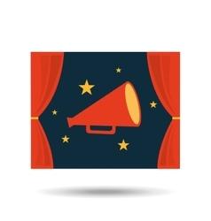 Concept cinema theater megaphone graphic design vector