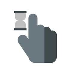 Cursor hand in anticipation icon flat style vector image
