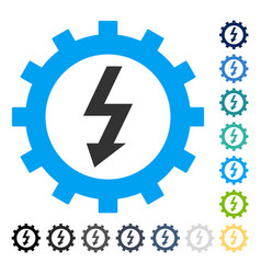 Electric energy cog wheel icon vector