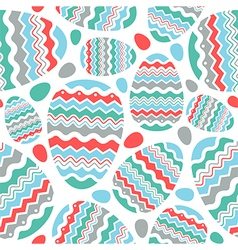 Happy easter egg seamless pattern vector
