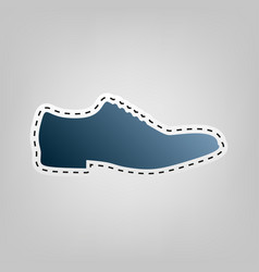 Men shoes sign blue icon with outline for vector