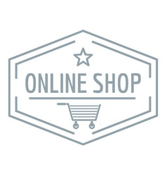 online market logo simple gray style vector image