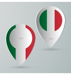 Paper of map marker for maps italy vector