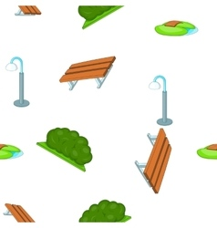 Park equipment pattern cartoon style vector