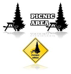 Picnic area vector image vector image