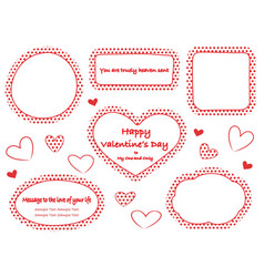 red polka dot message frames with text space vector image