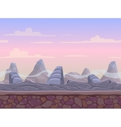 Seamless stone desert landscape vector
